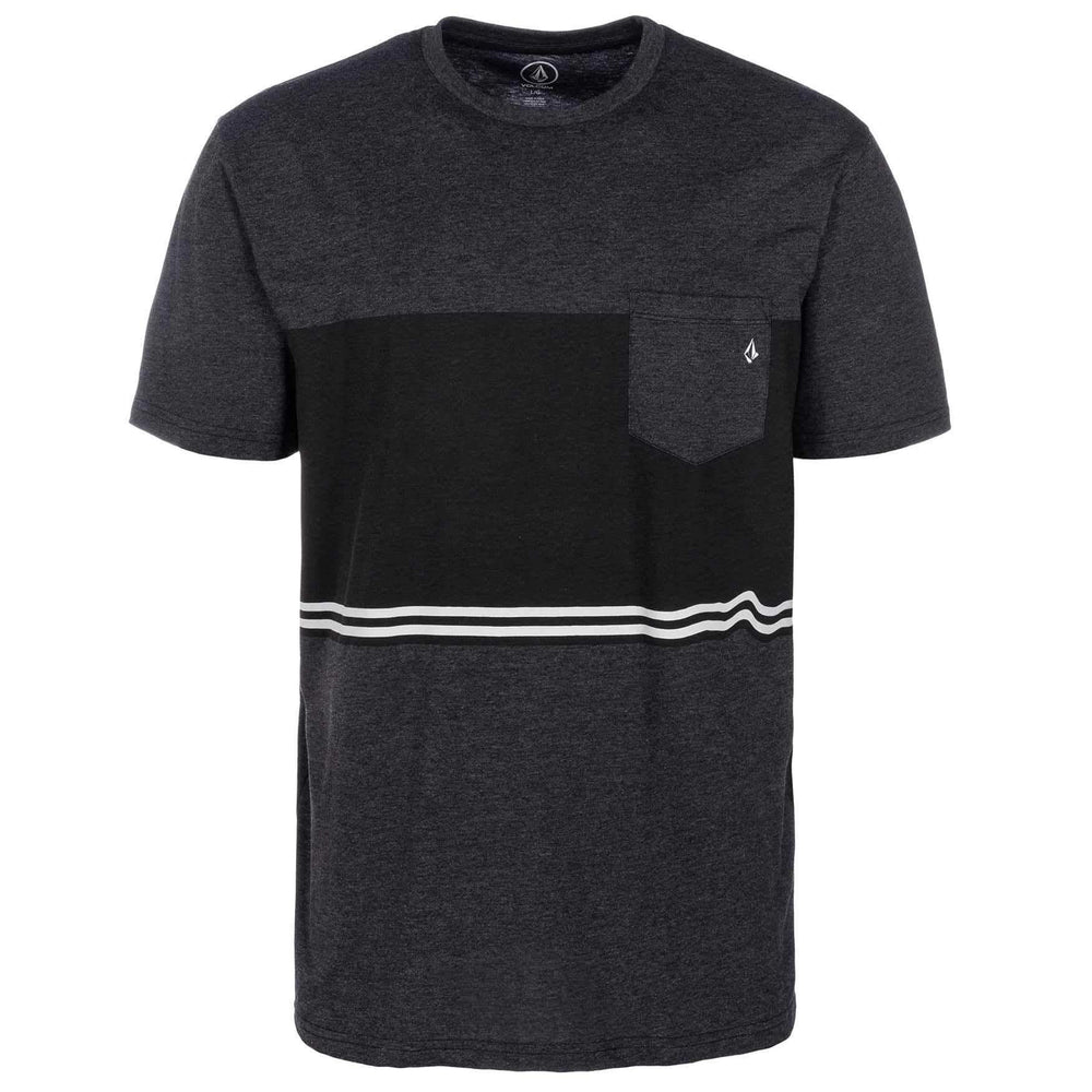 Volcom 3 Quarter HTH t-shirt - Heather Black Mens Pocket T-Shirt by Volcom