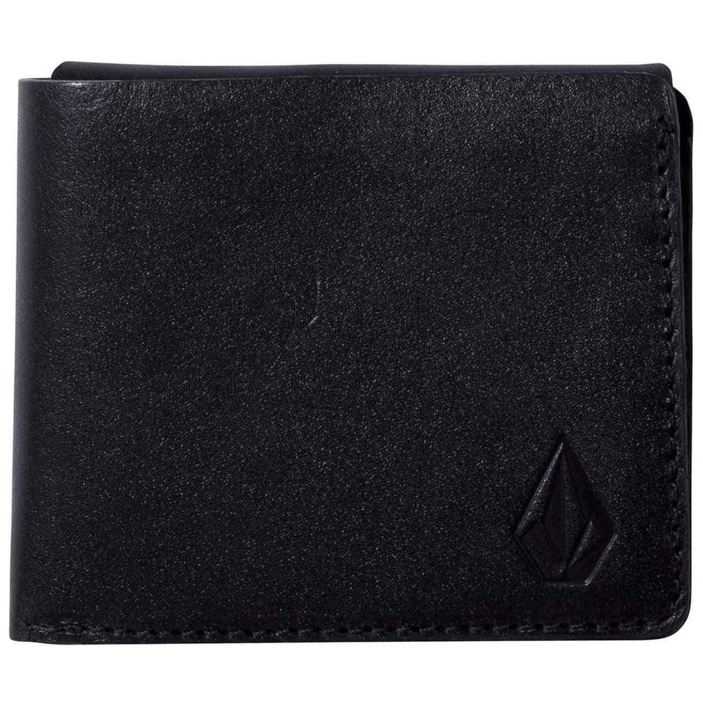 Volcom Mens Wallet Volcom 3Fold Leather Wallet Black O/S (one size)
