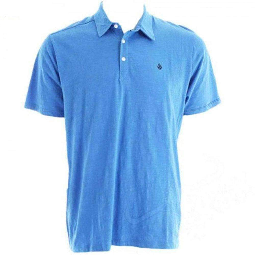 Volcom Boys Bang Out Slub Kids Polo Shirt - Regatta Blue Boys Polo Shirt by Volcom
