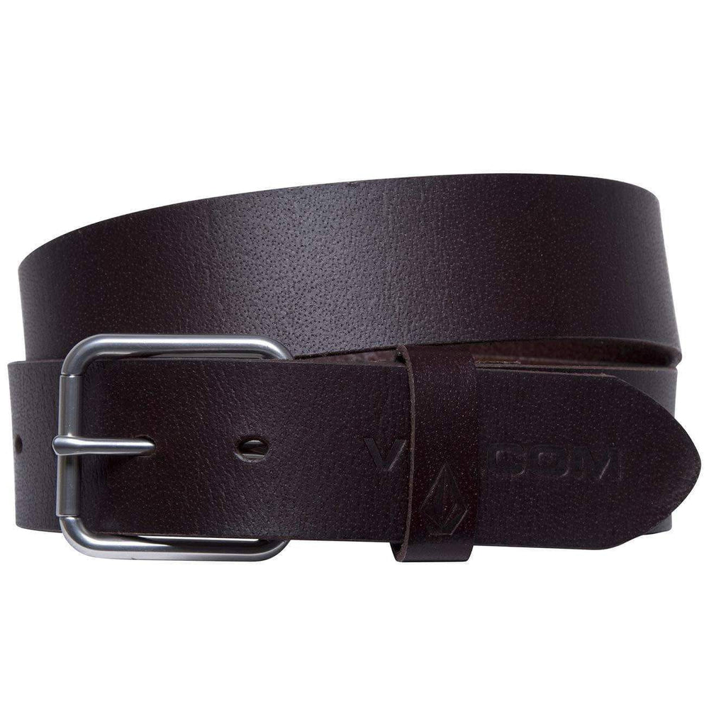 Volcom Effective Leather Belt - Brown Mens Casual Belt by Volcom