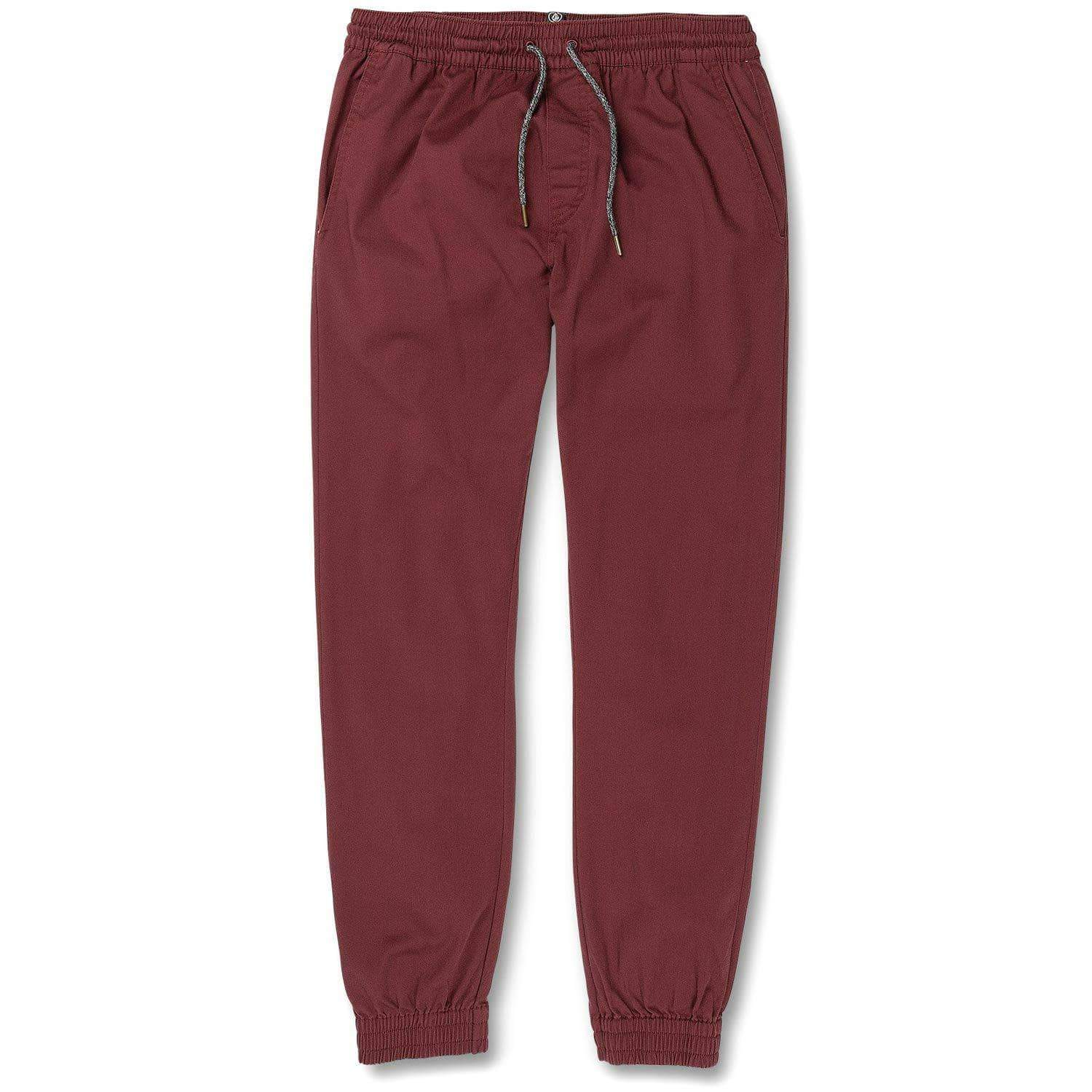 Volcom Mens Joggers Volcom Frickin Modern Tapered Joggers - Cabernet