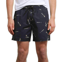 "Volcom Hopbine 16"" Pool Shorts - Black Mens Boardshorts by Volcom"