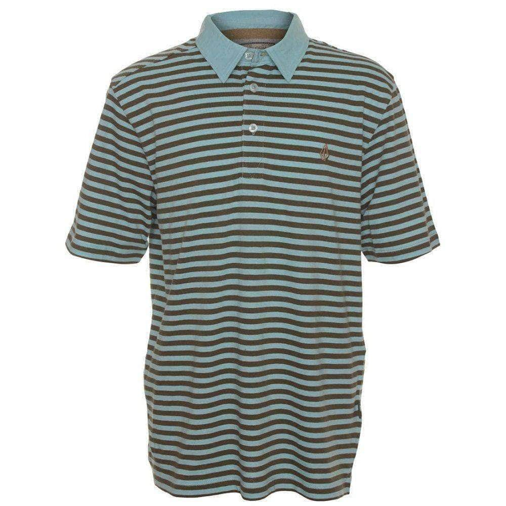 Volcom Kids Wowzer Stripe Polo Shirt in Light Blue Boys Polo Shirt by Volcom
