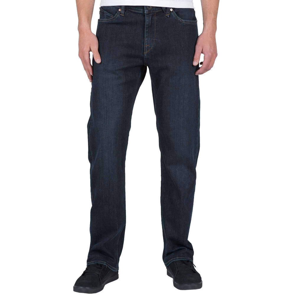 Volcom Kinkade Denim Jeans in Vintage Blue Mens Regular/Straight Denim Jeans by Volcom