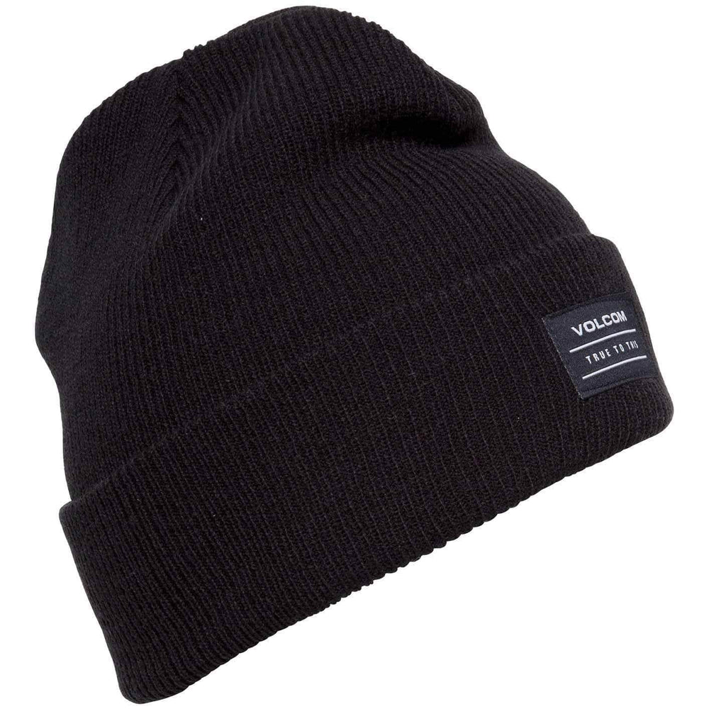 Volcom Fold Beanie Hat Volcom Knowledge Beanie Black O/S (one size)