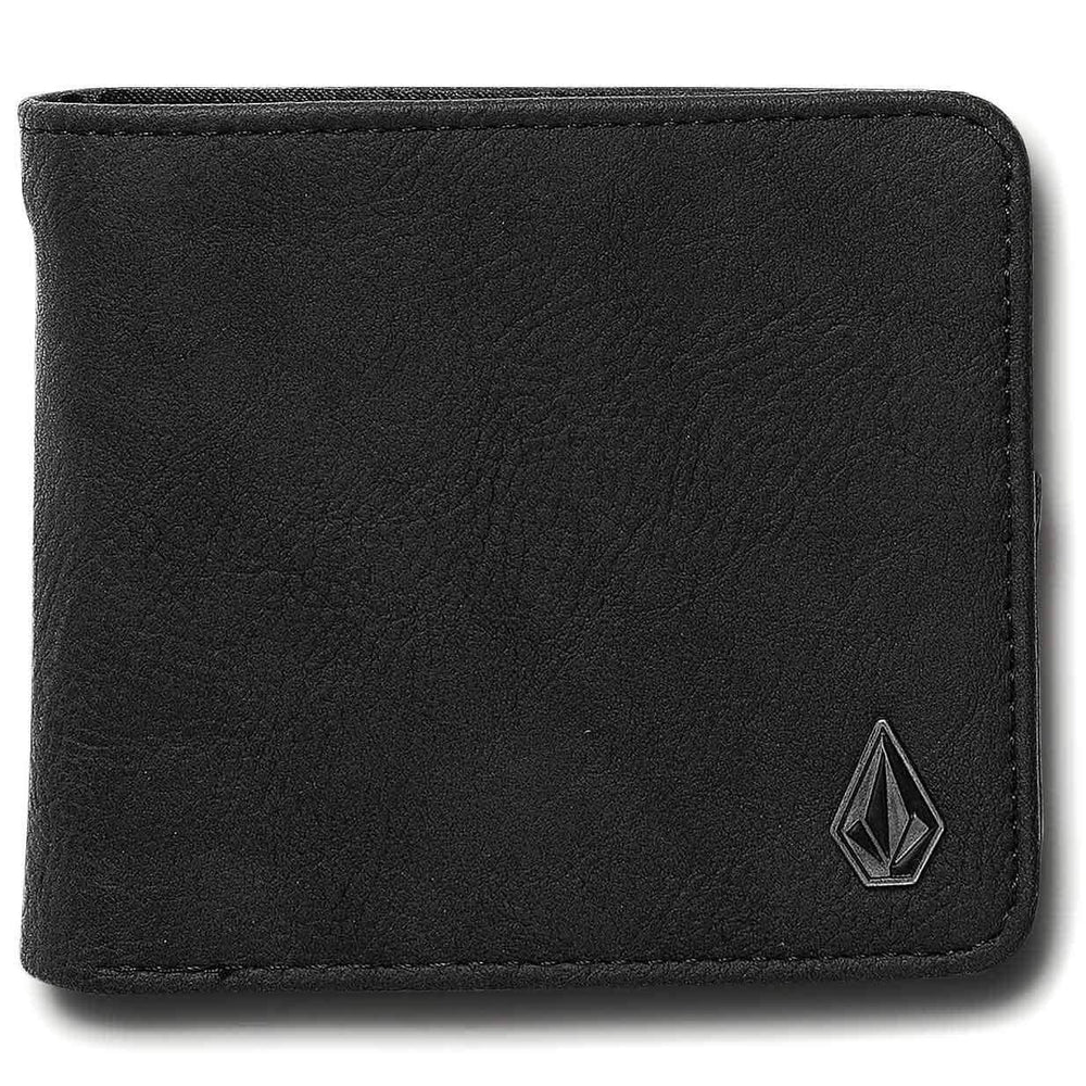 Volcom Slim Stone PU Wallet - Black Mens Wallet by Volcom N/A