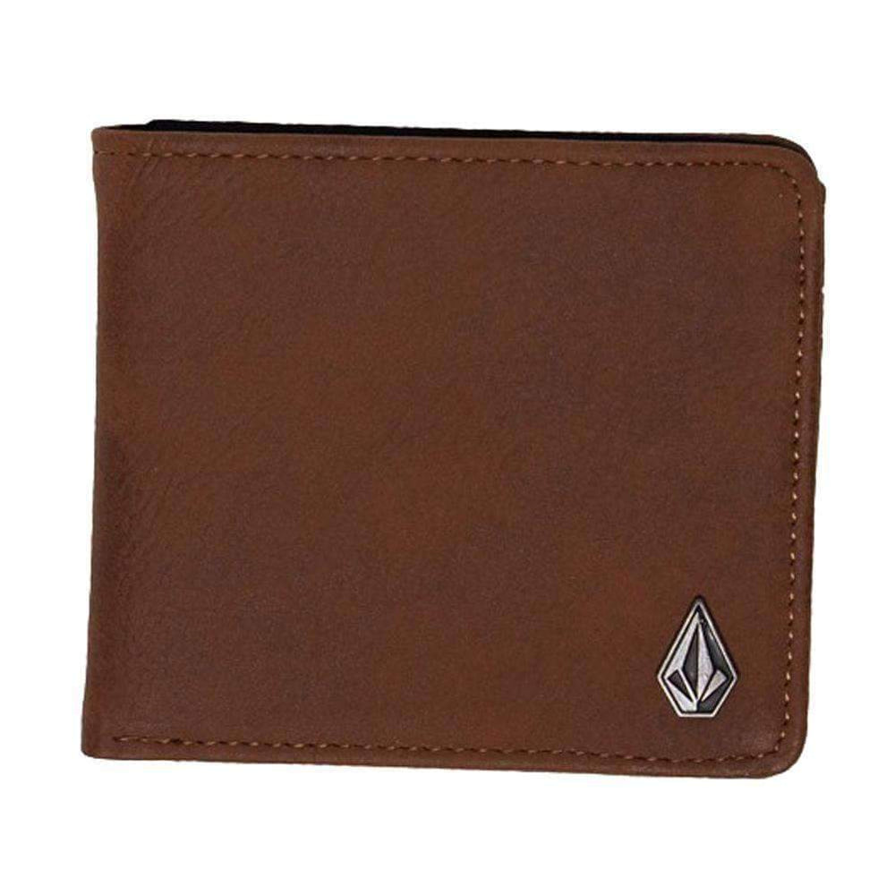 Volcom Slim Stone PU Wallet - Brown Mens Wallet by Volcom N/A