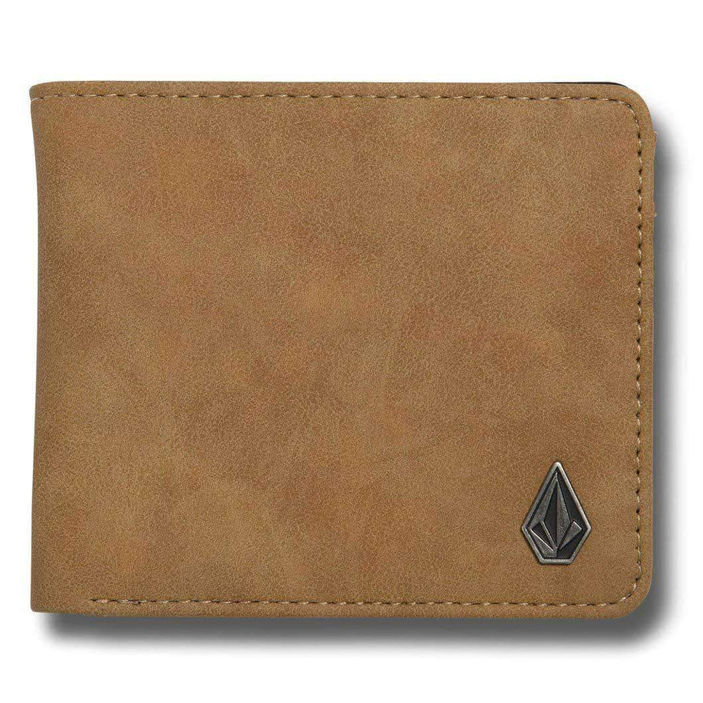 Volcom Slim Stone PU Wallet - Camel Mens Wallet by Volcom O/S (one size)