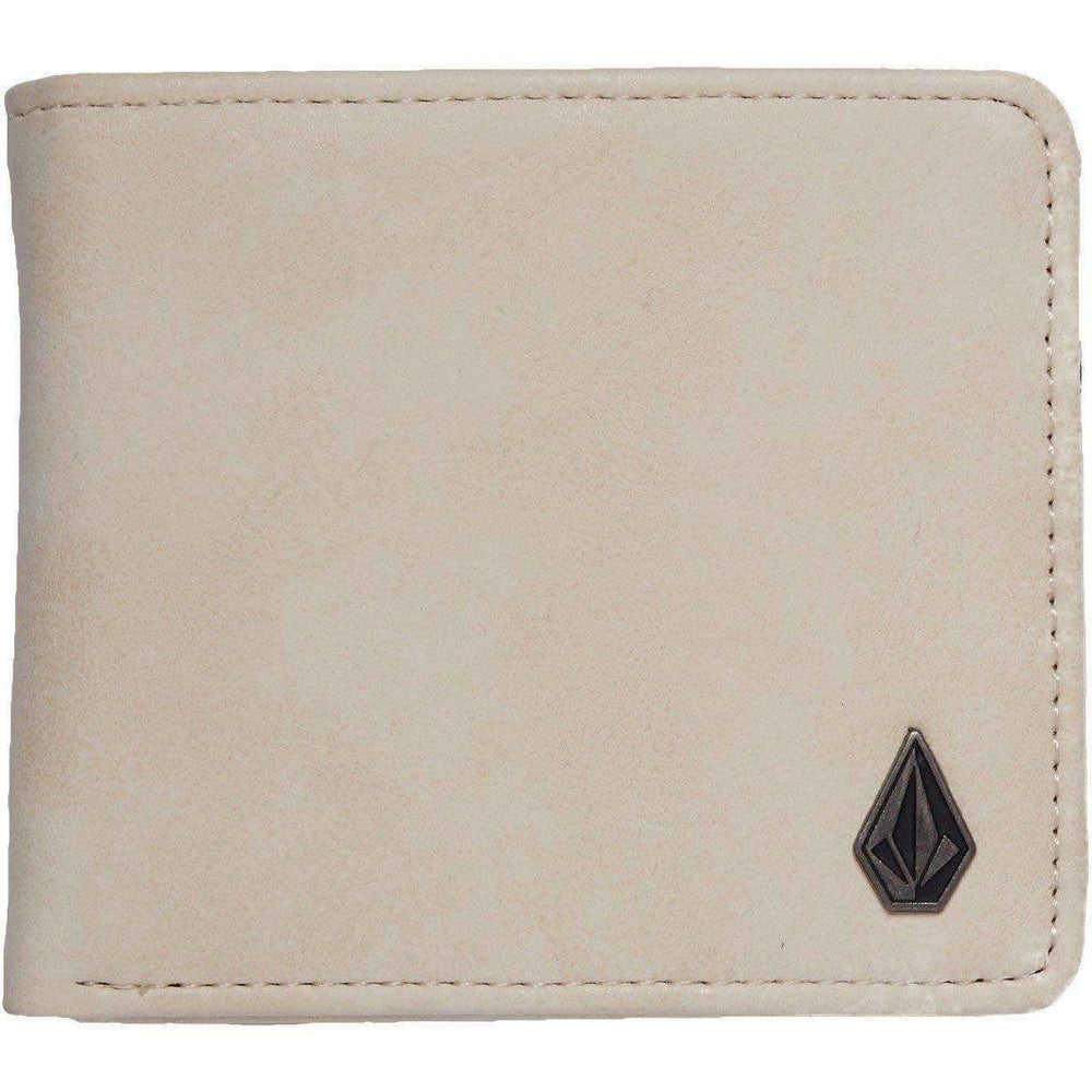 Volcom Slim Stone PU Wallet - Dirty White Mens Wallet by Volcom N/A