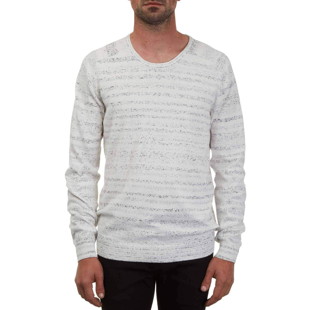 Volcom Sputnik Crew Sweater in Egg White Mens Crew Neck Sweatshirt by Volcom