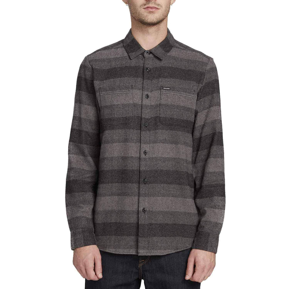Volcom Tone Stone L/S Shirt - Black Mens Casual Shirt by Volcom