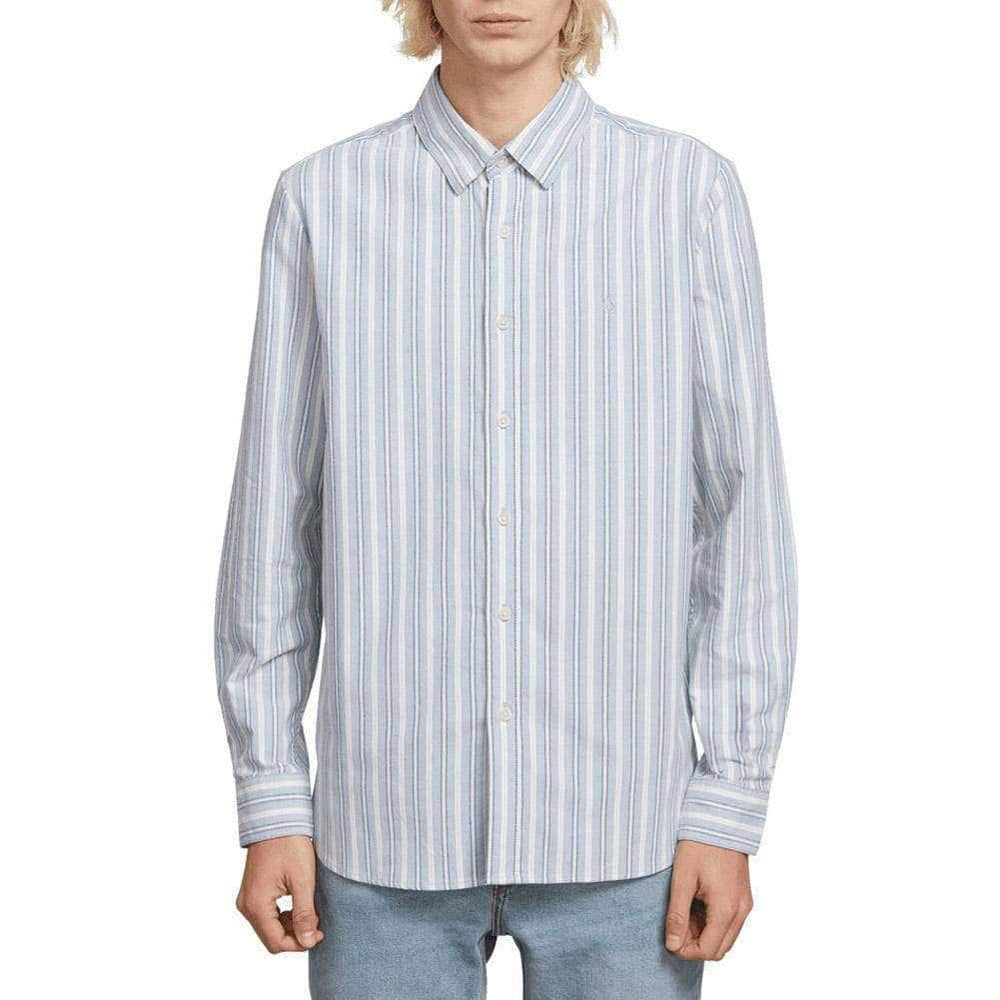 Volcom Vert Toner L/S Shirt - Wrecked Indigo Mens Casual Shirt by Volcom