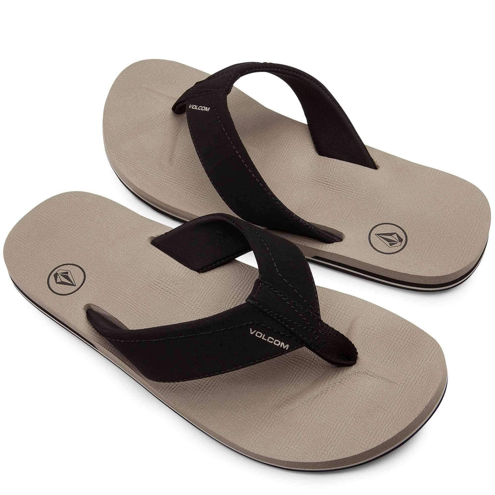 Volcom Victor Sandals in Khaki Mens Flip Flops by Volcom
