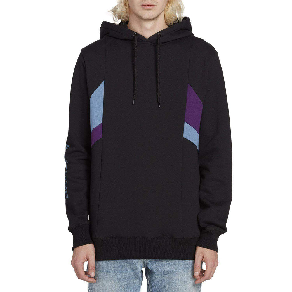 Volcom Wailes Pullover Hood - Black Mens Pullover Hoodie by Volcom
