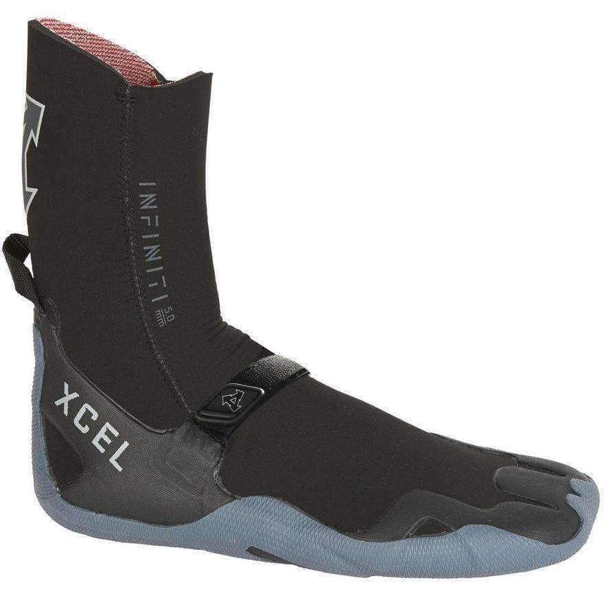 Xcel 5mm Infiniti Round Toe Wetsuit Boots 2019/20 - Black Grey Round Toe Wetsuit Boots by Xcel