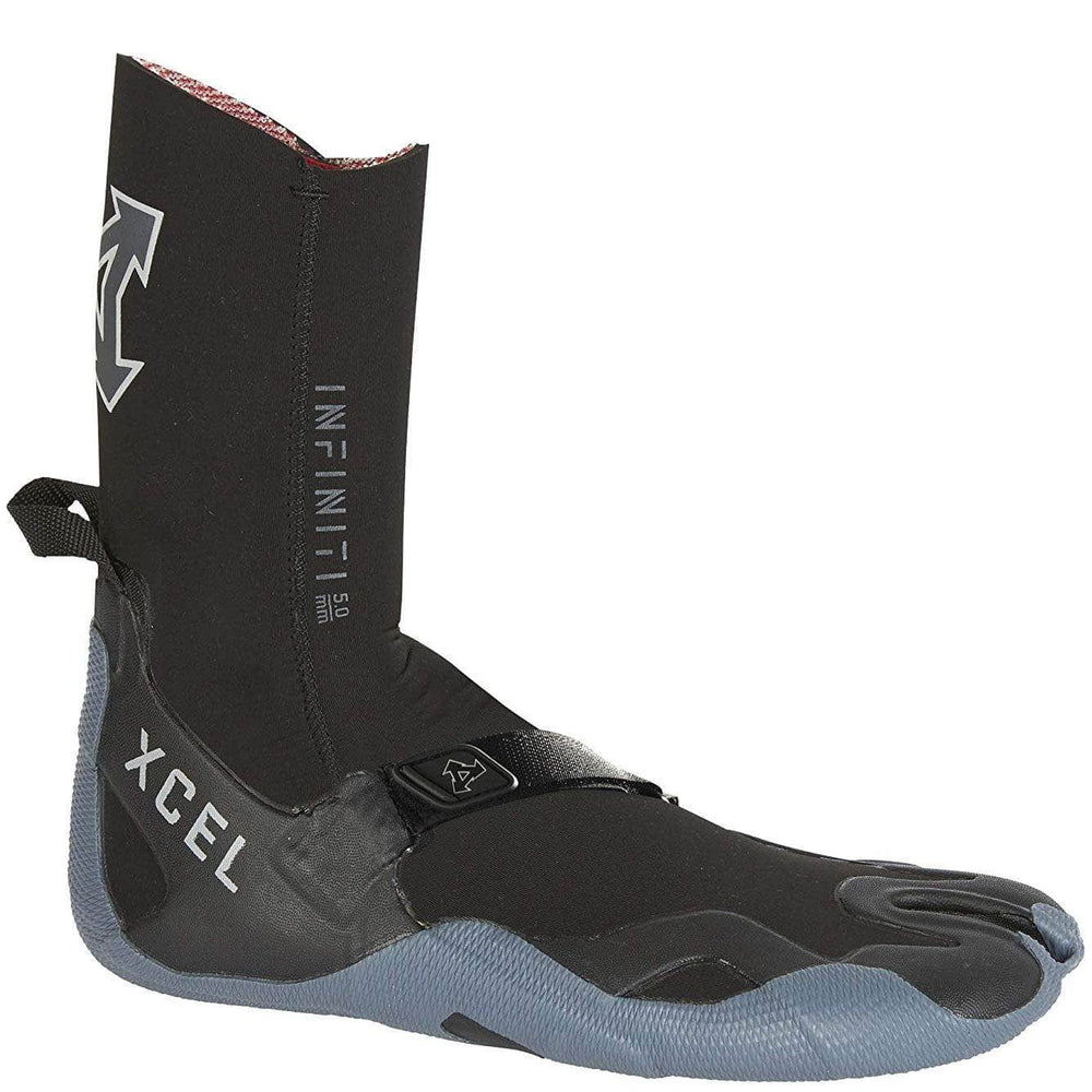 Xcel 5mm Infiniti Split Toe Wetsuit Boots 2019/20 - Black Grey Split Toe Wetsuit Boots by Xcel