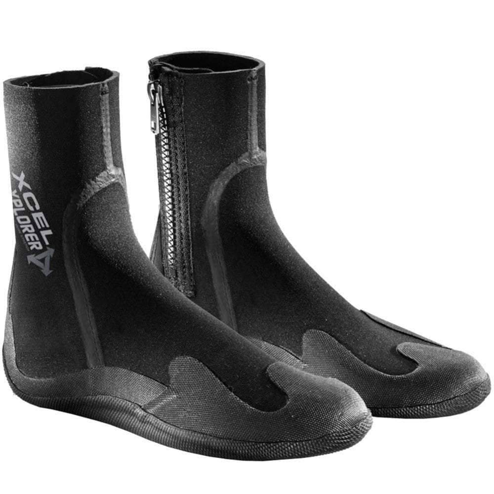 Xcel Kids 5mm Round Toe Xplorer Wetsuit Boots with Zip 2017 Round Toe Wetsuit Boots by Xcel