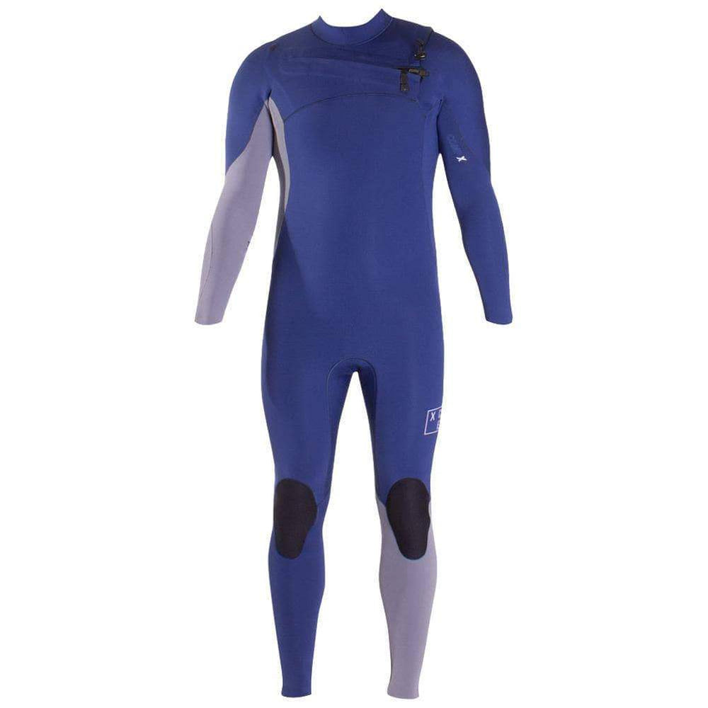 Xcel Mens 3/2 Comp X Chest Zip 2019 Wetsuit - Iodine Blue Dark Grey Mens Full Length Wetsuit by Xcel