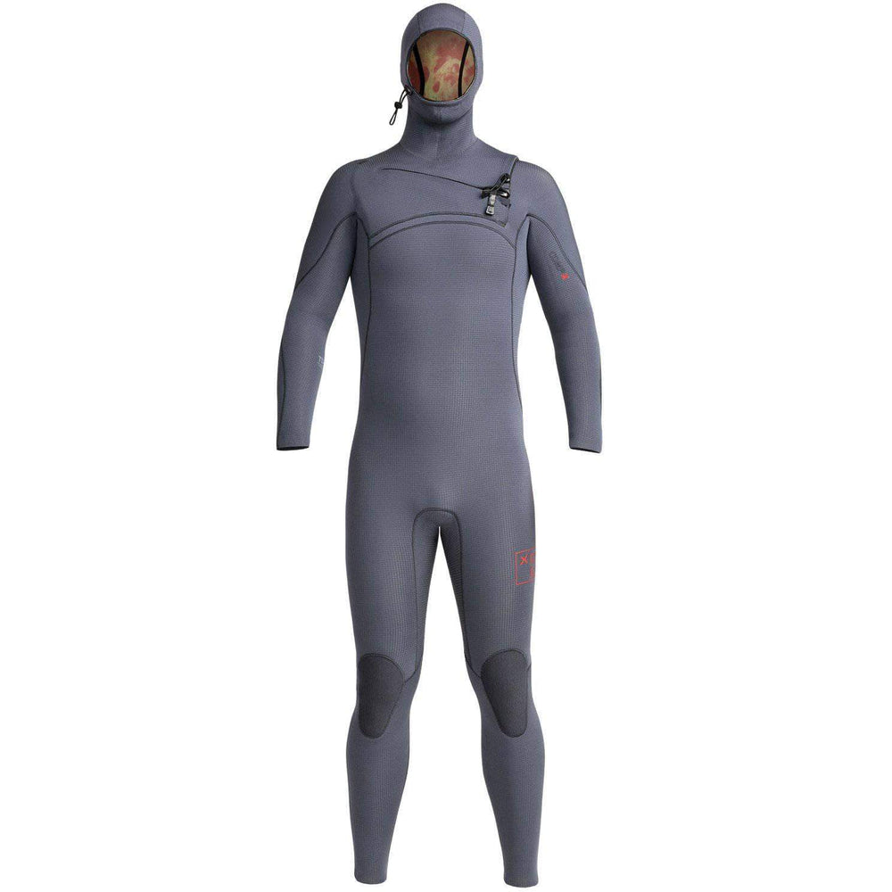Xcel Mens 4.5/3.5mm Comp X Hooded 2019 Wetsuit Gunmetal Mens Full Length Wetsuit by Xcel