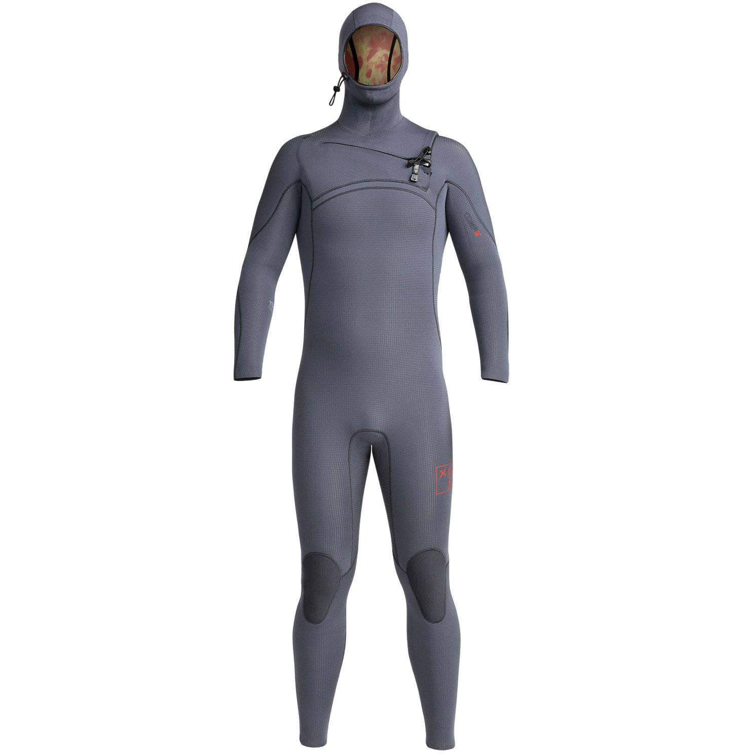 Xcel Mens Full Length Wetsuit Xcel Mens 4.5/3.5mm Comp X Hooded 2019 Wetsuit Gunmetal