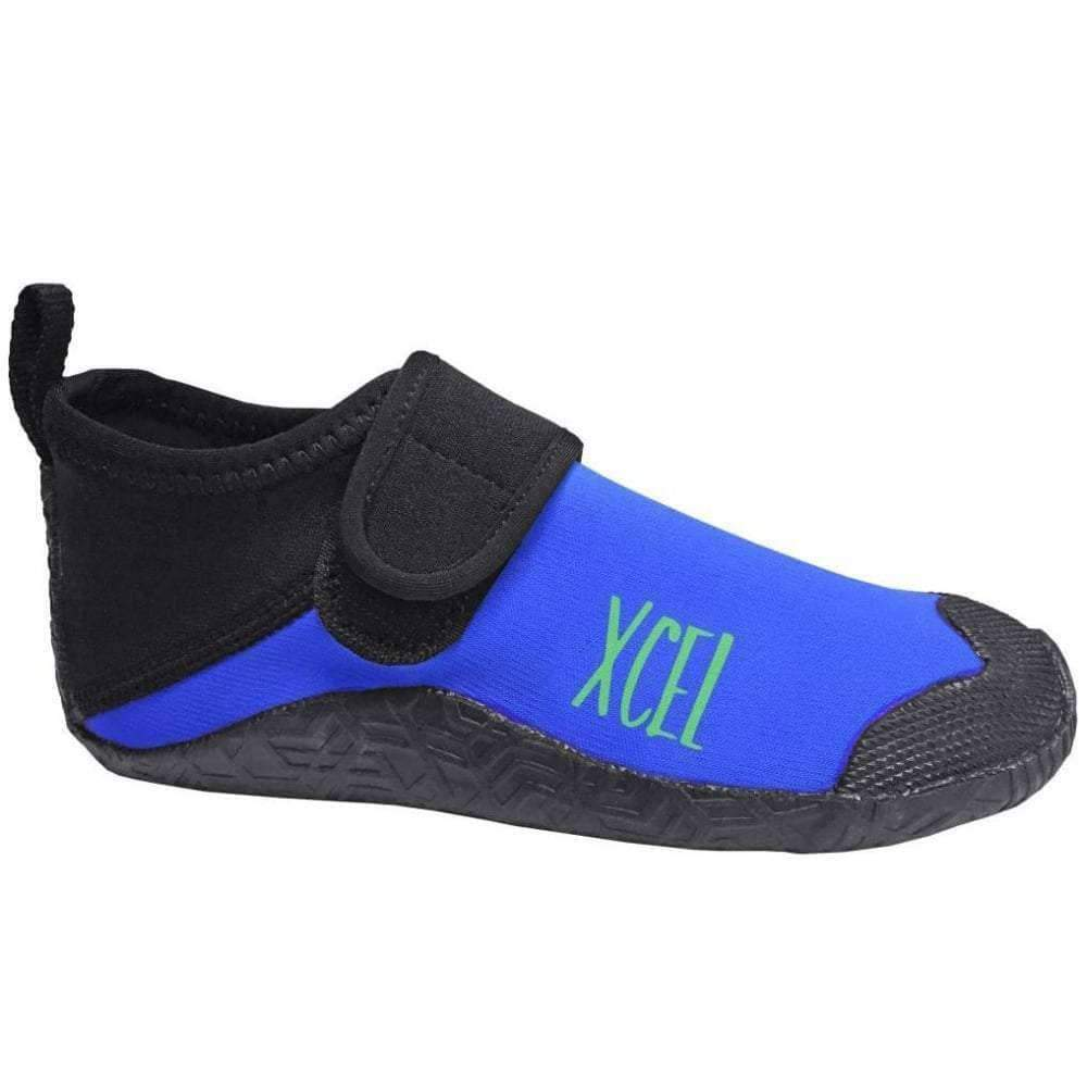 Xcel Youth 1mm Reef Walker Wetsuit Boots in Electric Blue Reef Boots by Xcel