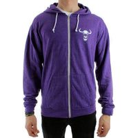 Yakwax Head Hit Zip Hoodie in Purple Heather Mens Zip Up Hoodie by Yakwax
