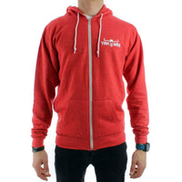 Yakwax Head Hit Zip Hoodie in Red Heather Mens Zip Up Hoodie by Yakwax