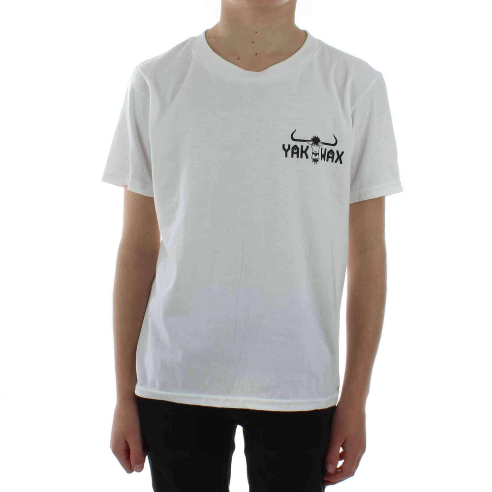 Yakwax Kids OG Hit T-Shirt in White Boys Surf Brand T-Shirt by Yakwax