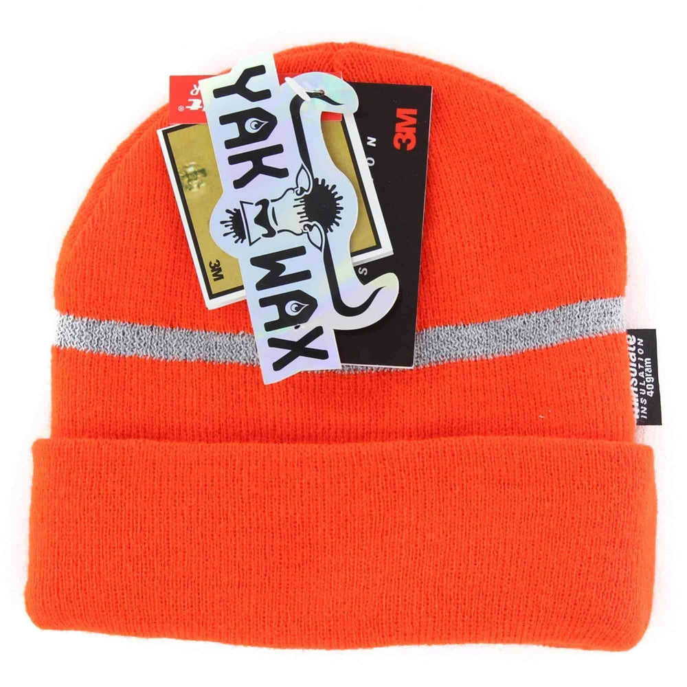 Yakwax Reflecto Thinsulate Junior Beanie in Fluoro Orange Kids Beanie Hat by Yakwax
