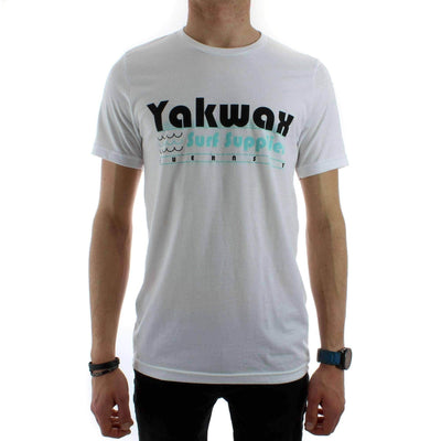 Yakwax Mens Graphic T-Shirt Yakwax Surf Supplies T-Shirt in White