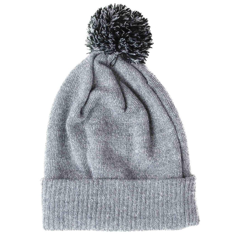 Yakwax Yakwax Cheapskate Pom Beanie in Grey Black Grey/Blue N/A Pom Beanie Hat by Yakwax