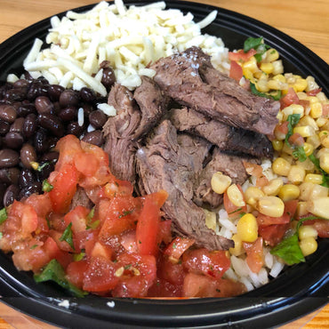 Fiesta Rice Bowl with Sirloin Steak, Individual Meal