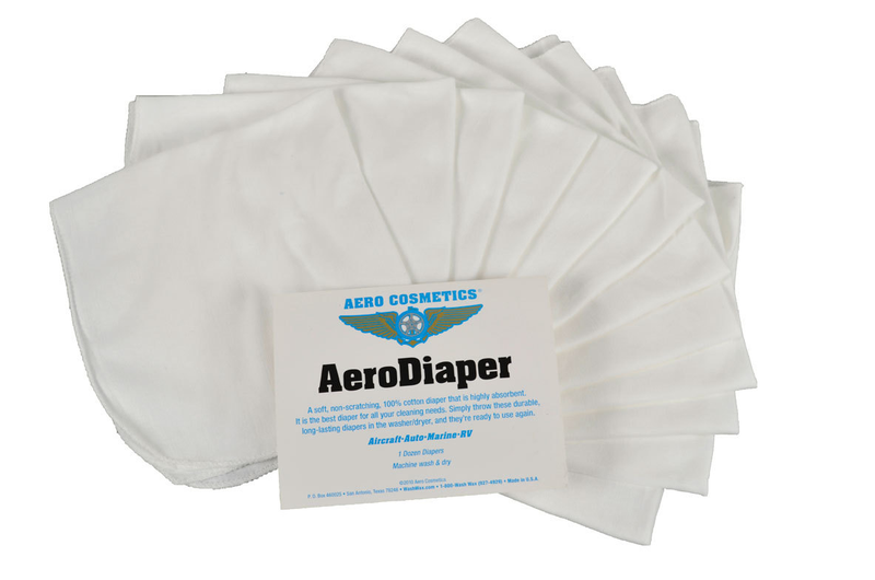 Aero Diaper 100% Cotton Cloths - 12 Pack