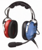 PILOT USA PA-1151ACB CHILD PASSIVE HEADSET - BLUE / RED