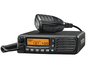 IC-A120 Mobile Airband Transciever | includes Vehicle Mount