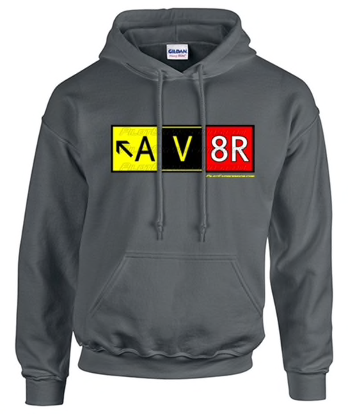 AV8R (Aviator) Taxiway Sign Hooded Sweatshirt