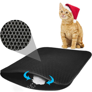 2019 New Double Layer Thicken Lager Holes Cat Litter Mat