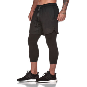2020 New 2-in-1 Quick Dry Secure Pocket Fitness Shorts (Buy 2 Free Shipping)