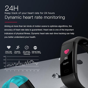 Owenfitness Fit6 Pro with Color Screen, Heart Rate Monitor, Pedometer IP67 Waterproof Sleep Monitor Step Counter for Android & iPhone