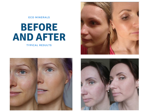 before and after eco minerals foundation