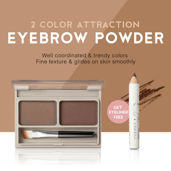 2 Color Eyebrow Powder Palette Cosmetic Brand Eye Brow Enhancer Professional Waterproof Makeup Eye Shadow With Brush Mirror Box