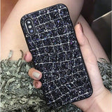 Glitter Shiny alligator skin print for iphone 6S 6plus 7 7plus 8 8plus X