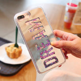 Luxury Dream Mirror Glitter Dynamic Liquid Quicksand Phone Case For iPhone 6 6S Plus Case For Iphone 7 7plus  8 8 Plus X