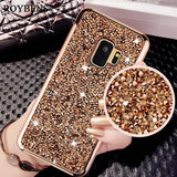 Luxury Glitter Phone Case for Samsung Galaxy S9 S9Plus Heavy Duty Shockproof Back Diamond
