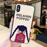 Melanin Poppin' Phone Case For iphone 6s 6plus 7 7plus 8 8plus X