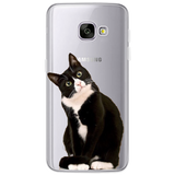 Cat Phone Case For Samsung Galaxy S5 S6 S7 Edge S8 S9 Note 8 Plus A3 A5 A8