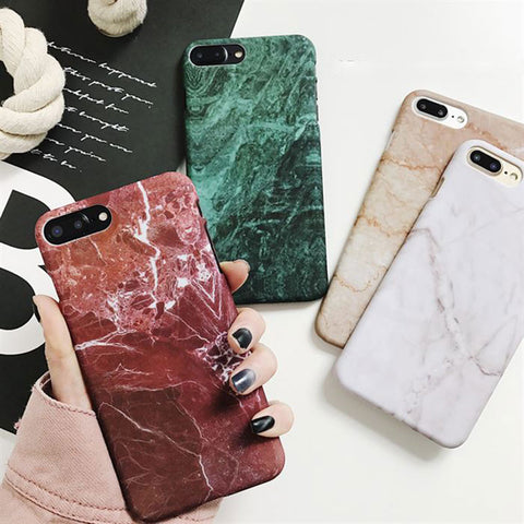Retro Marble Pattern Case For Samsung Galaxy S7 Edge S8 S9 Plus Note 8 and For iPhone 5se 5S 6S plus 7 7 plus 8 8Plus X