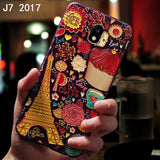 YonLinTan Silicone Silicon luxury coque,cover,case For Samsung Galaxy J7 2017 J730 Back etui 3D cute phone Original accessories