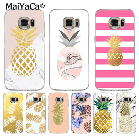 Marble Pineapple Shell Phone Case  for Samsung S5 S6 S7 Edge S8 Plus S6 Edge Plus S9 Plus Note 9