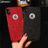 Luxury Bling Glitter 2 in 1 Silicon Case For iphone 5 5S 6s 6 7 7plus 8 8plus X